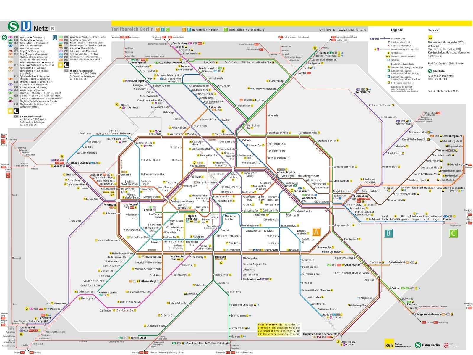 Assez Plan Métro Berlin KW15